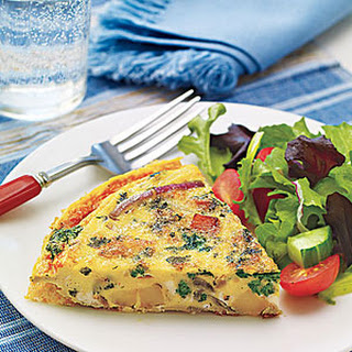 Spinach, Onion and Potato Frittata.
