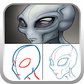 How to draw Gray alien