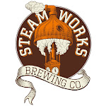 Logo for Steamworks Brewery and Taproom