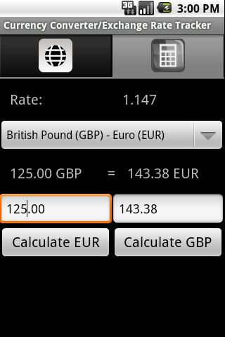 Currency Conversion Calculator - screenshot