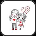 Dasom couple go launcher theme icon