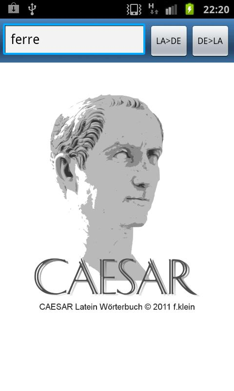 caesar Latein Wörterbuch- screenshot