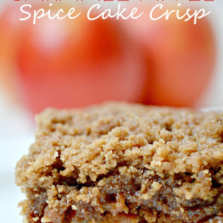 Easy Crockpot Apple Crisp With Spice Cake Mix