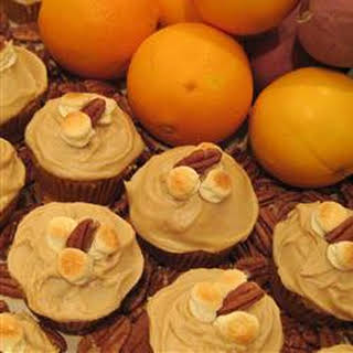 Candy'D Sweet Potato Cupcakes with Brown Sugar Icing.