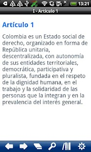 Colombia Constitution - screenshot thumbnail