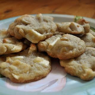 White Chocolate Macadamia Cookies.