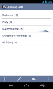 Shopping Lists Manager