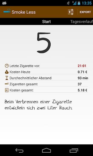 Smoke Less - Weniger rauchen