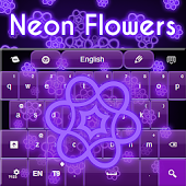 Neon Flowers Keyboard