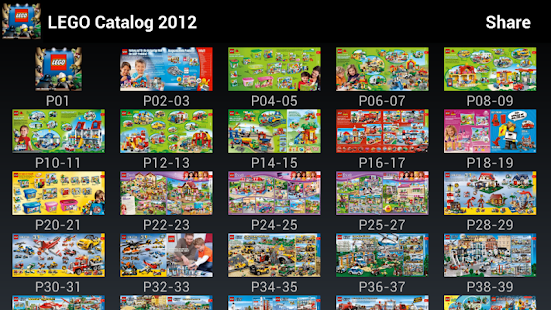 Lego Catalog 2012