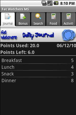 Fat Watchers Plus- screenshot