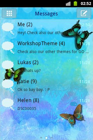 Blue Butterfly Theme GO SMS - Android Apps on Google Play