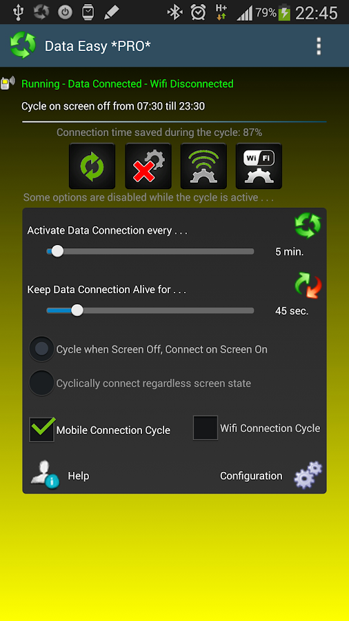 Data Switch Save Battery Easy - screenshot