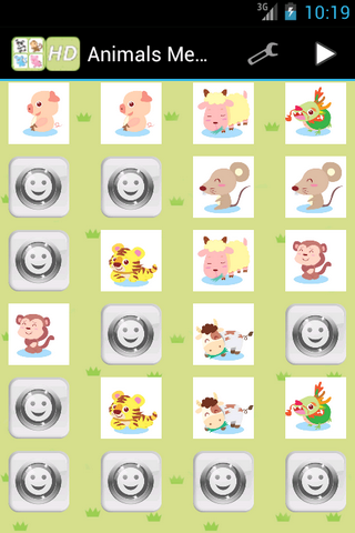 Animals Memory for Kids - screenshot
