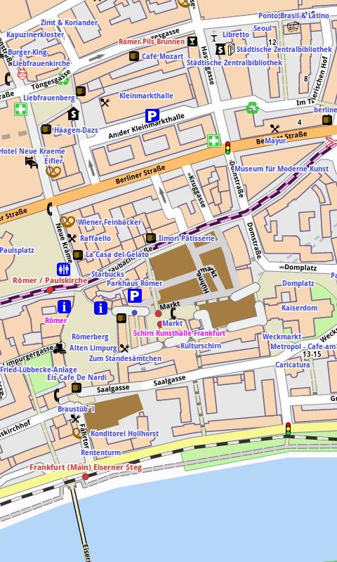 Frankfurt M. Offline City Map - screenshot