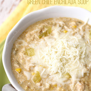 Crock Pot Green Chile Enchilada Soup.