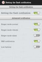Screenshot of Flashlight, Notification,Morse