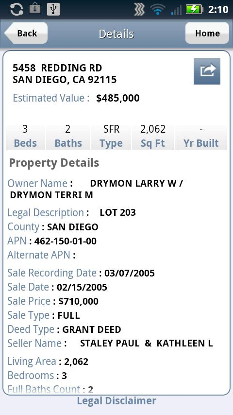 Property Profiles CA - screenshot