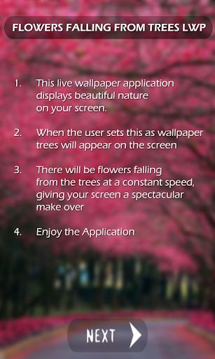 Flowers Falling Live Wallpaper