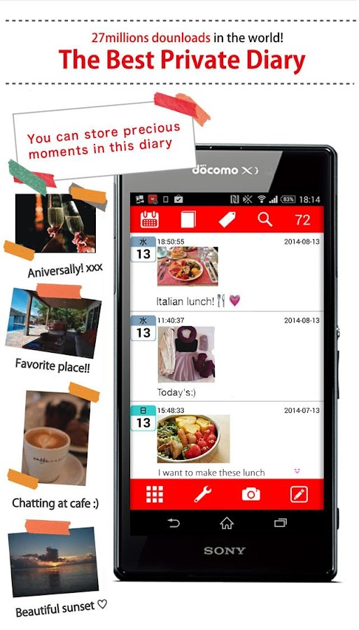 Moment Diary - screenshot