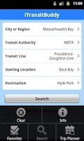 Screenshot of iTransitBuddy MBTA Rail Lite