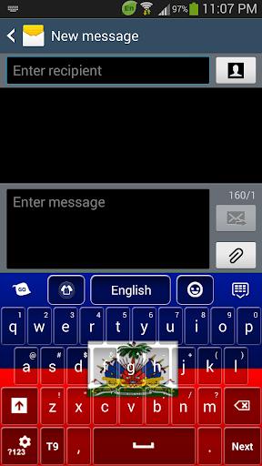 Haiti Flag Keyboard
