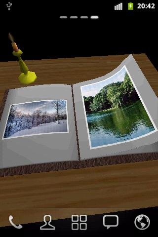 Photo Book 3D Live Wallpaper - screenshot
