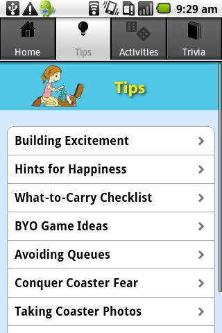 Theme Park Queue Activities- screenshot