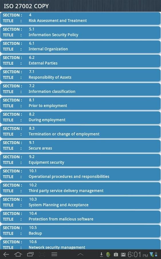 ISO 27002 Audit- screenshot