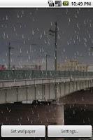 Screenshot of Rain Live Wallpaper Demo