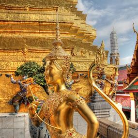 Garuda, Royal Palace, Bangkok, Thailand by Arvind Mallya - Buildings & Architecture Public & Historical ( temple, bangkok, garuda, thailand, royal palace )