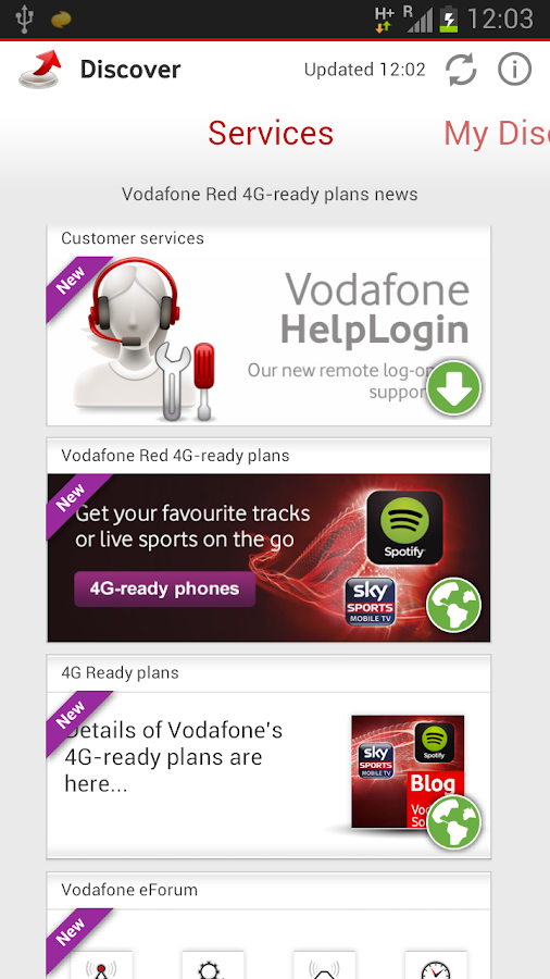 Vodafone Discover - screenshot