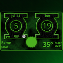 Green Lantern Weather Clock icon
