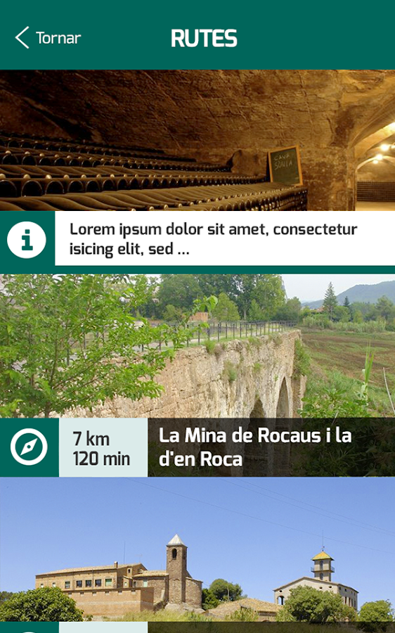 The Sèquia's routes- screenshot