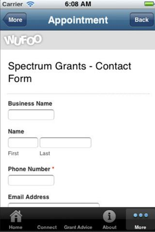 Grants Australia- screenshot