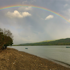 Rainbow In Larantuka  by Hexsa Saputra - Landscapes Weather (  )