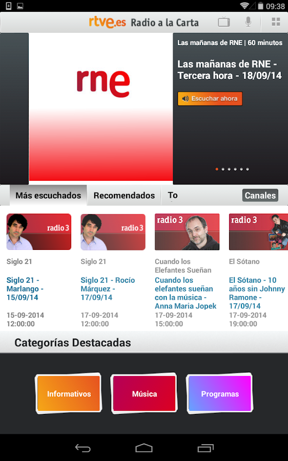 RTVE.es | Tableta - screenshot
