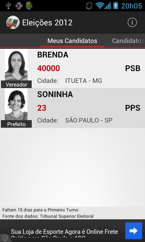 Eleições 2012- screenshot