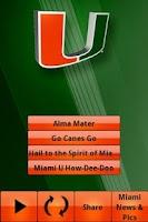 Screenshot of Miami Hurricanes Gameday