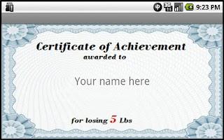 Screenshot of Losing Weight Awards