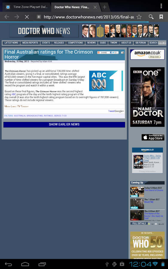 Doctor Who WhoNews- screenshot