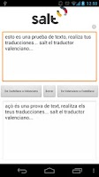 Screenshot of Salt - Traductor Valenciano