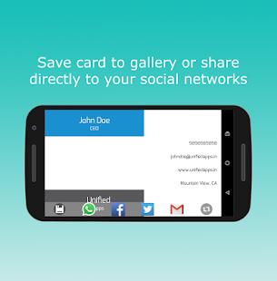 Business card maker apps on google play screenshot image wajeb Images