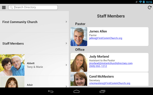 Instant Church Directory- screenshot thumbnail