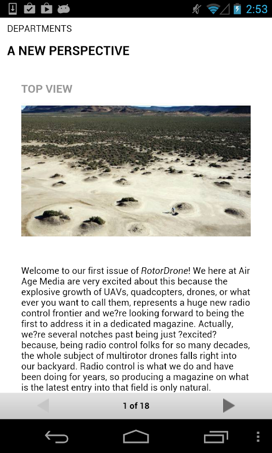 RotorDrone Magazine- screenshot