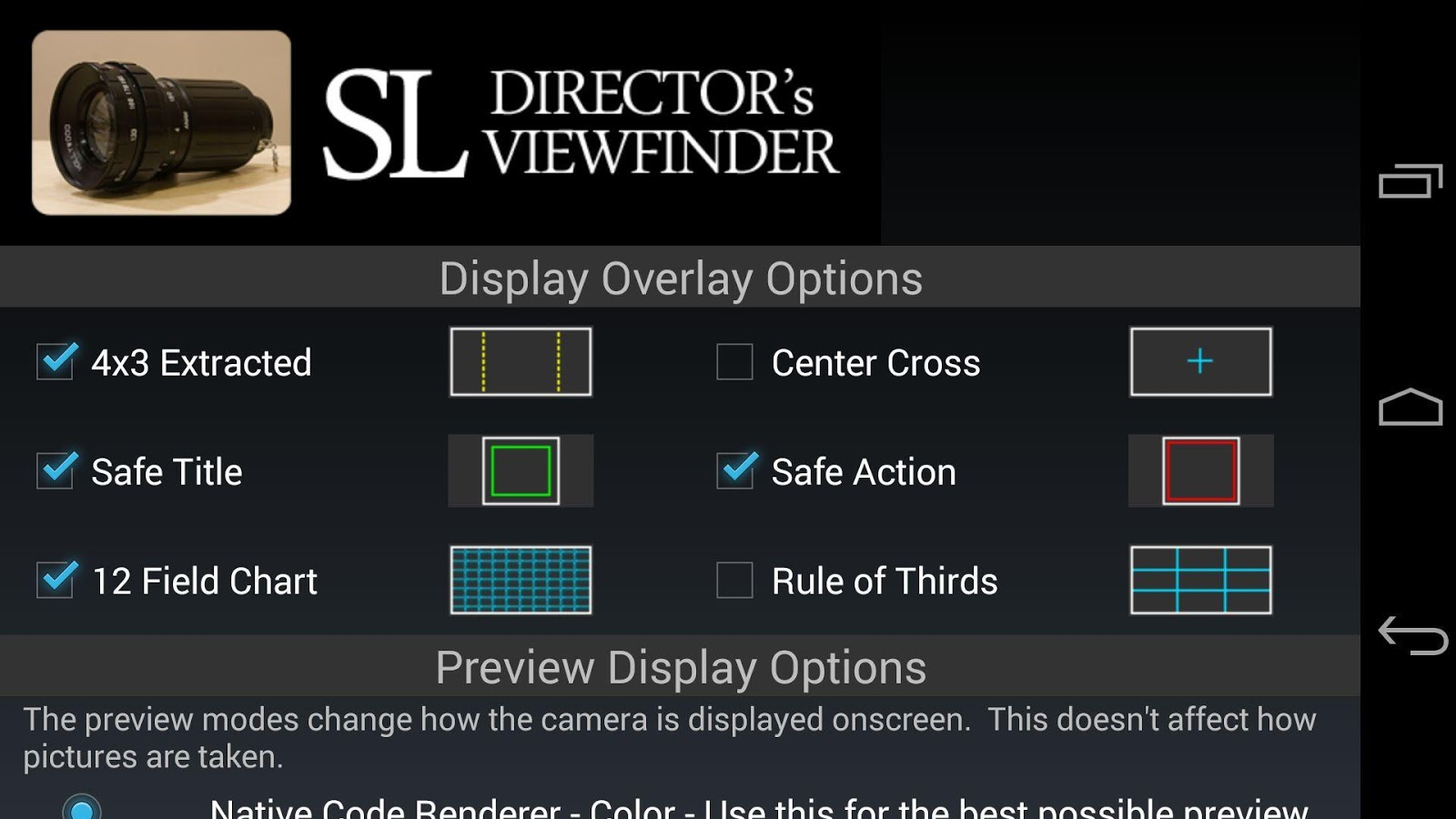 SL Director's Viewfinder- screenshot