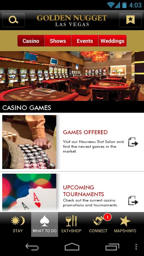golden nugget casino online  android