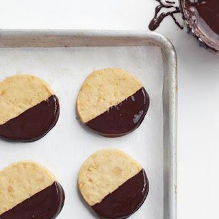Chocolate-Dipped Macadamia Cookies