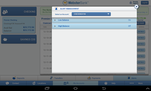 Webster Bank® Mobile Tablet- screenshot thumbnail