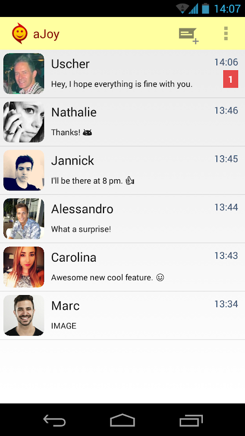 aJoy Messenger: Cool Fun Chat